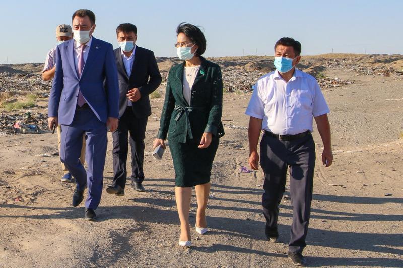 Сенатор Акмарал Альназарова посетила Кызылординскую область