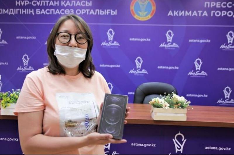 Розыгрыш двух iPhone12 среди вакцинированных столицы пройдет 24 июля