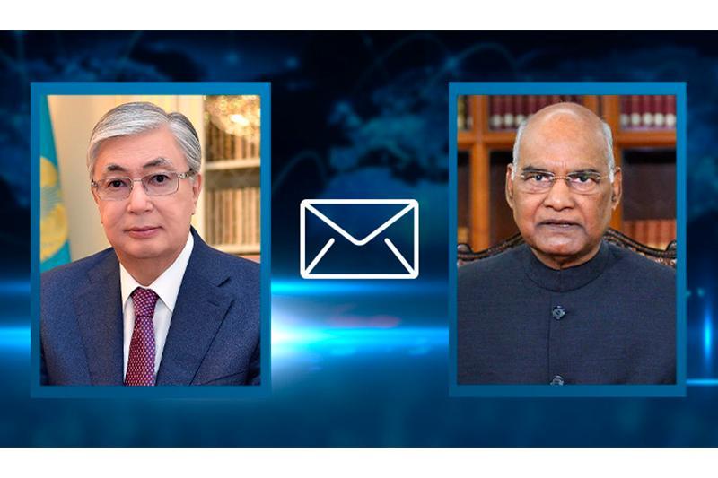 托卡耶夫总统向印度总统致慰问信