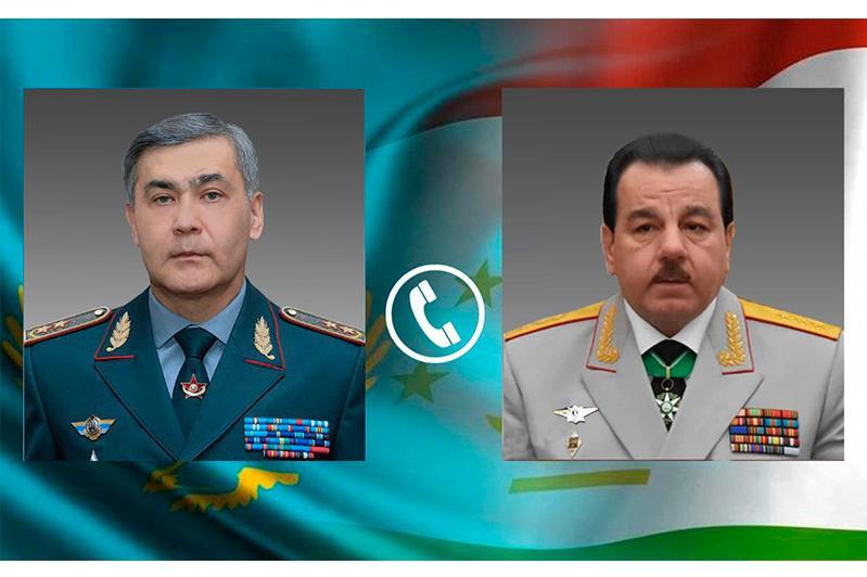 Состоялся телефонный разговор между министрами обороны Казахстана и Таджикистана