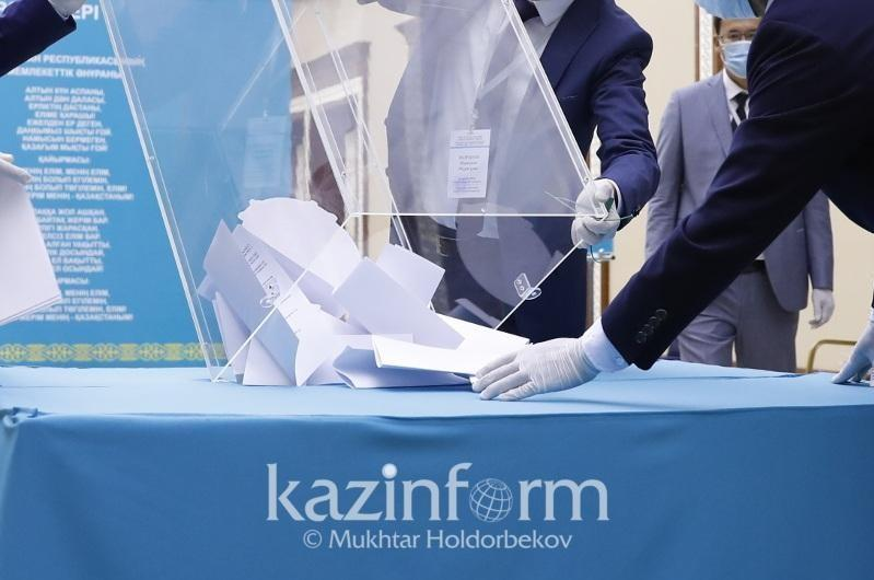 Polling stations wrap up work in 14 regions of Kazakhstan