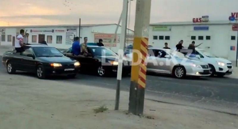 Водителей «беспредельного» кортежа задержали в Мангистауской области