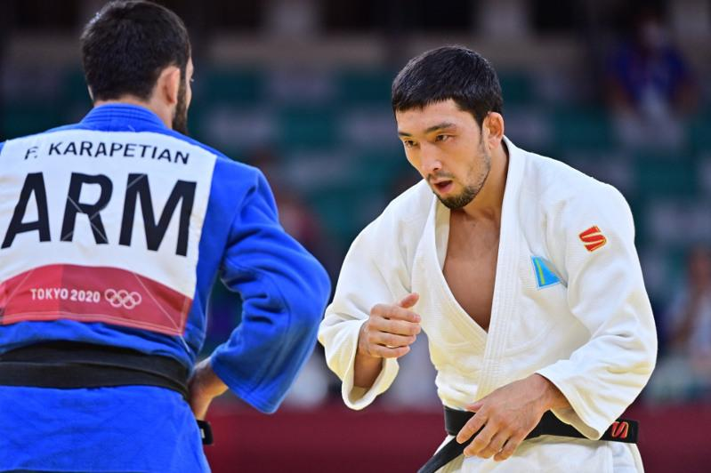 Дзюдоист Жансай Смагулов стартовал с победы на Олимпиаде в Токио