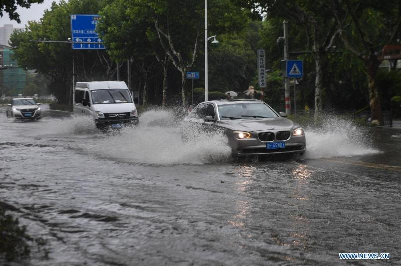 Typhoon In-Fa makes second landfall in east China