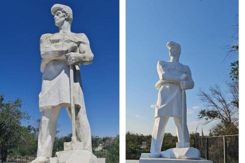 Памятник первостроителям города отреставрировали в Балхаше