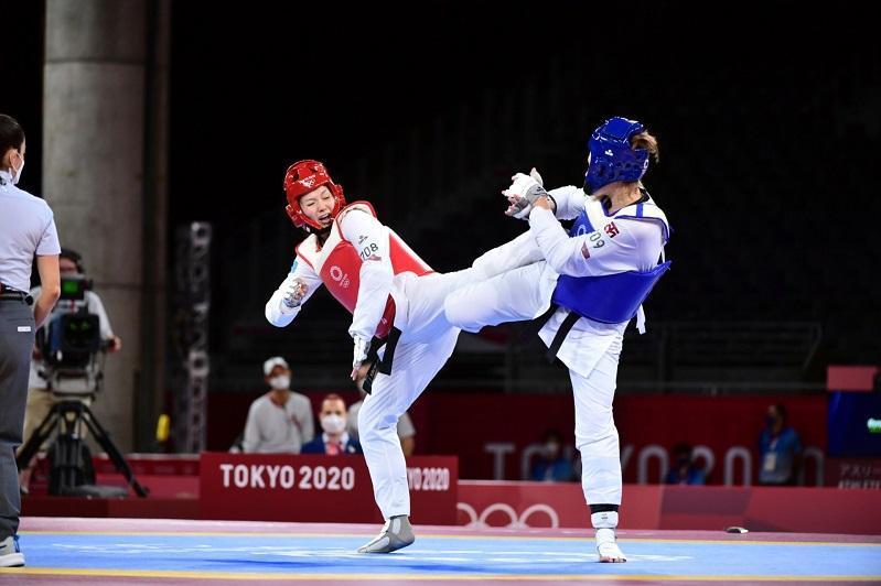 Kazakhstani taekwondoist Deniz off to good start at Tokyo Olympics