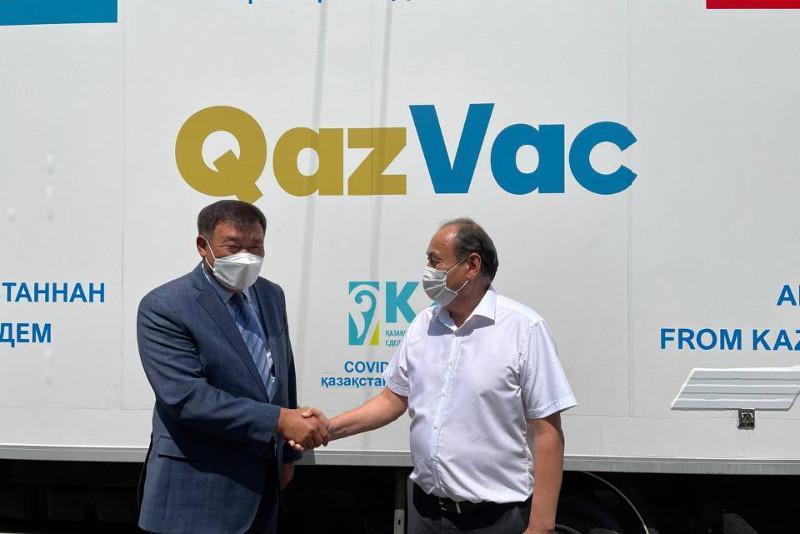 Гуманитарлық көмек: QazVac вакцинасының 25 мың дозасы Қырғызстанға жеткізілді