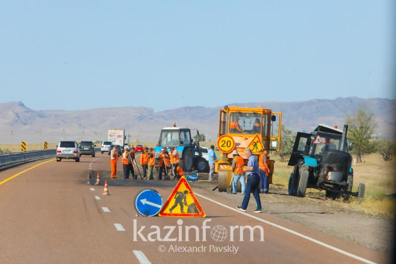 Когда закончат ремонт трассы до Алаколя