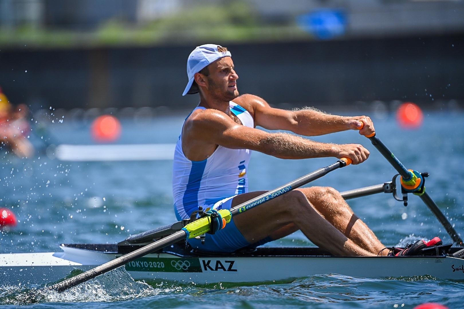东京奥运赛艇:哈萨克斯坦选手排名小组第五