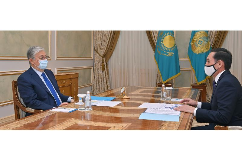Head of State receives Chairman of People's Assembly of Kazakhstan
