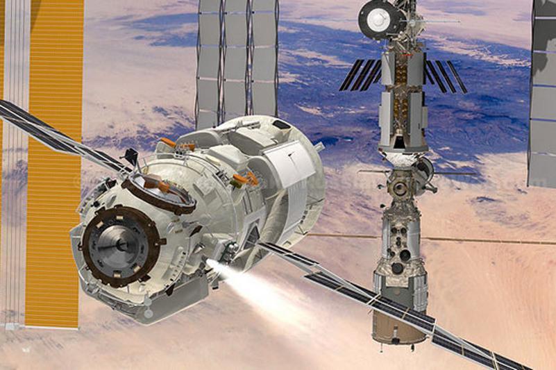 20-тонныймодуль «Наука» в штатном режиме пристыковался к МКС