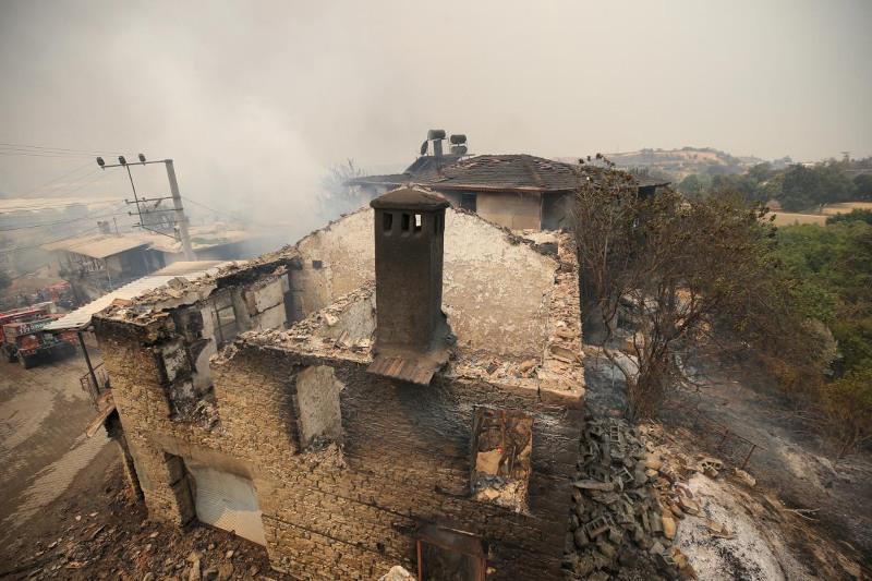 Три человека погибли и 122 пострадали при лесном пожаре в Анталье