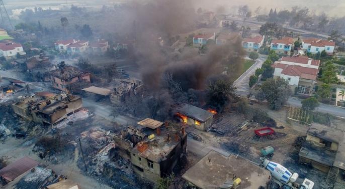土耳其安塔利亚森林大火基本得到控制 火灾已致1人死亡