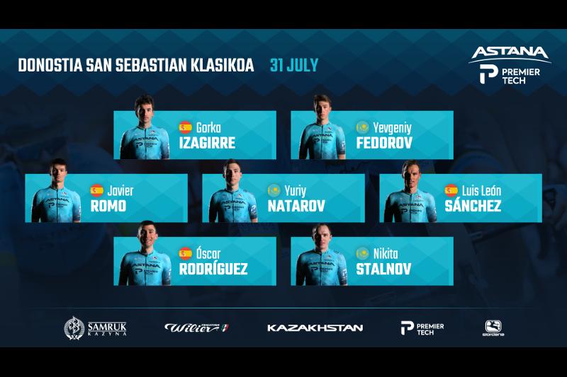 Astana-Premier Tech brings versatile team to Donostia San Sebastian Klasikoa