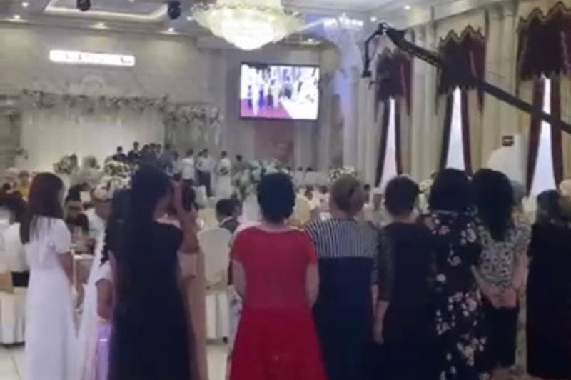 Свадьбу на 180 человек проводили в карантин в Шымкенте