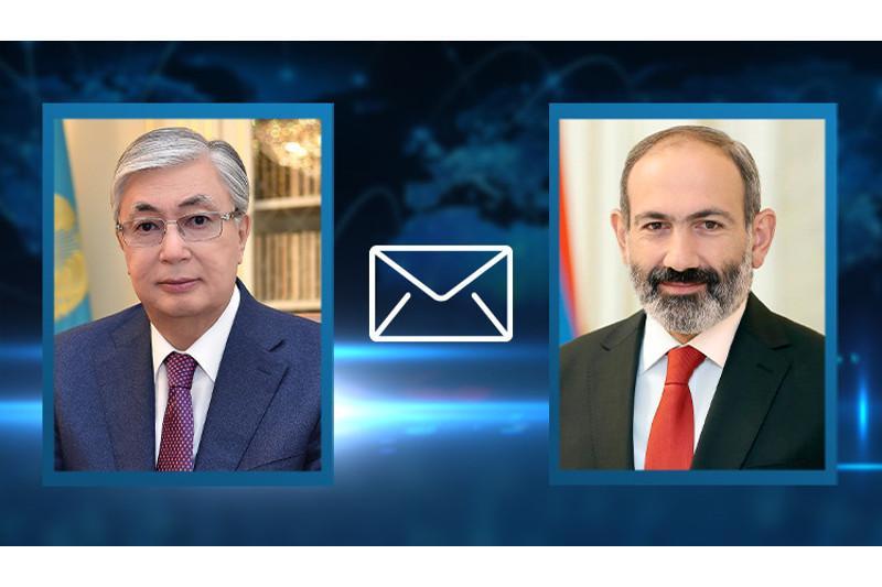 托卡耶夫总统致信祝贺帕希尼扬被任命为亚美尼亚总理
