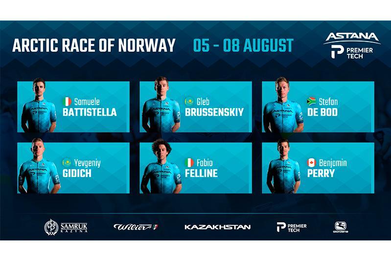 «Астана» объявила состав на «Арктическую гонку Норвегии»