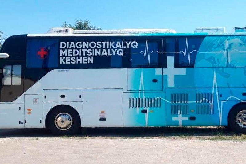 Передвижной пункт вакцинации заработал в посёлке Жанаарка Карагандинской области