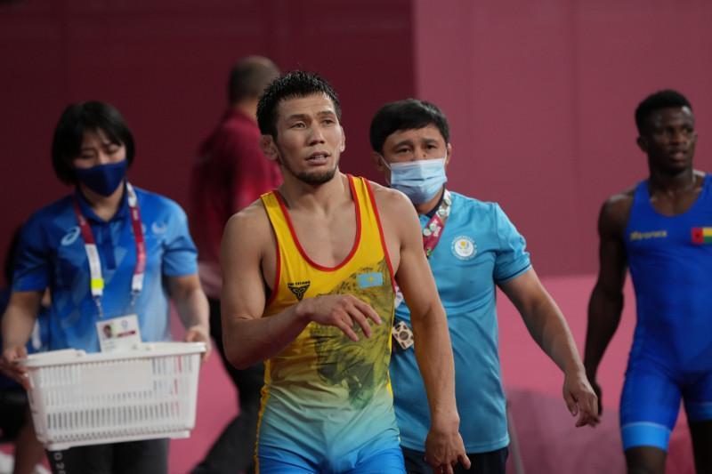 东京奥运:哈萨克斯坦摔跤运动员晋级半决赛