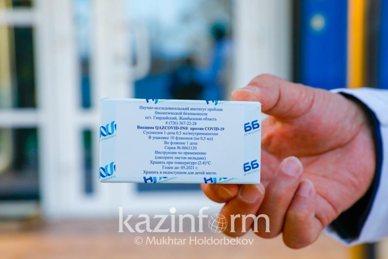 990 доз двухкомпонентной вакцины QazVac доставили в Атырау