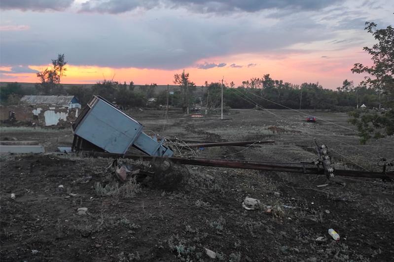 Дауылдан зардап шеккен Ақмола облысының ауылдарында төтенше жағдай жарияланды
