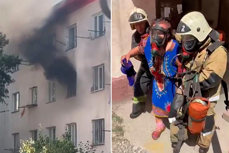 Восемь человек спасли при пожаре в Алматинской области