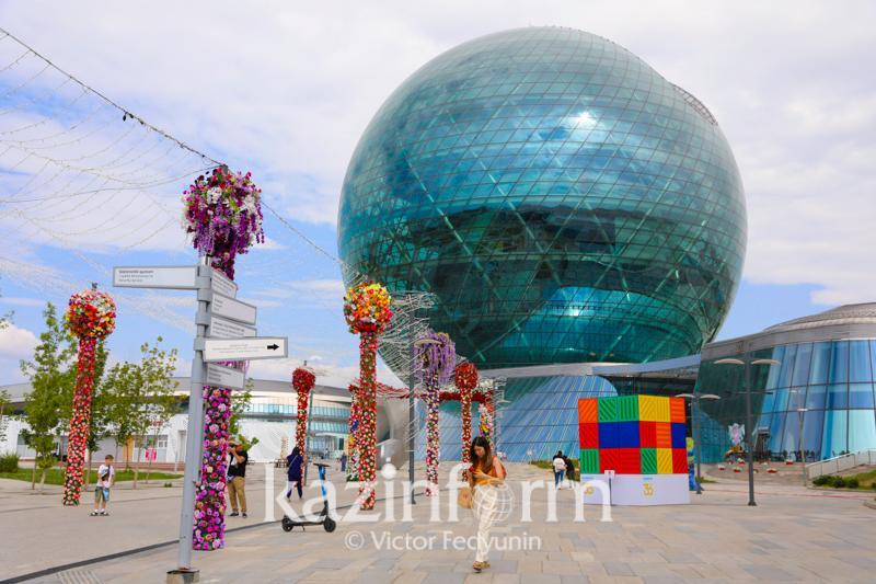 Как оживилась территория городка EXPO