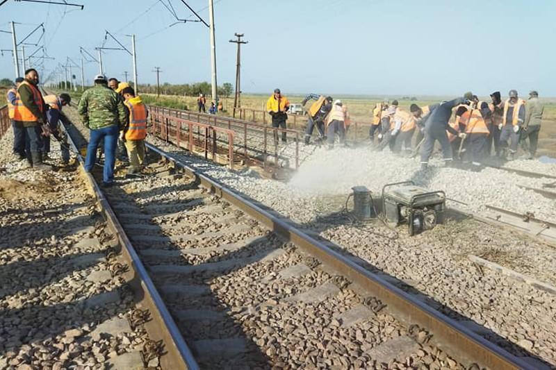 Движение поездов на перегоне Аспара-Шу Жамбылской области восстановлено