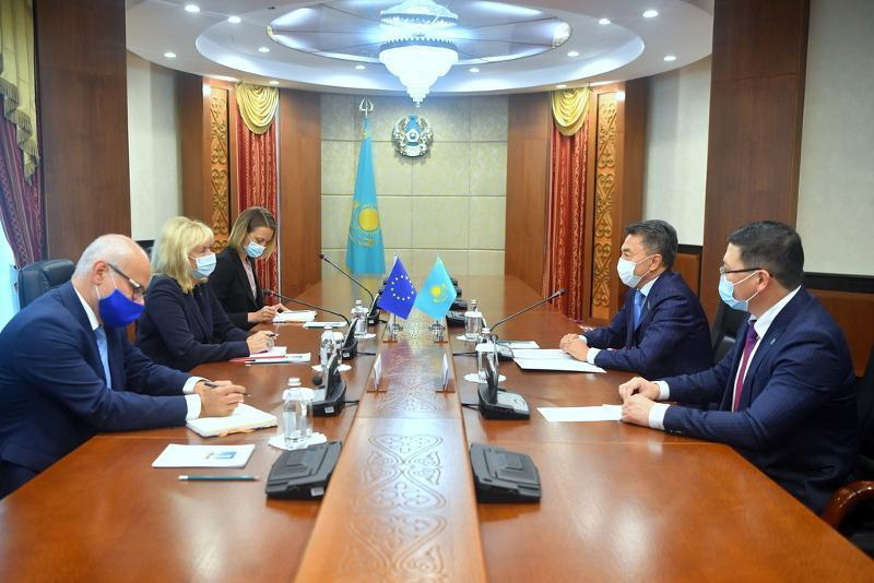 Deputy Chairman of Kazakh Senate, EU Special Representative for CA hold talks