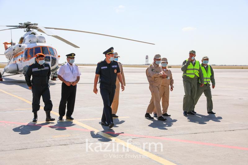 前往土耳其援助扑灭森林火灾的哈萨克斯坦救援人员平安归来