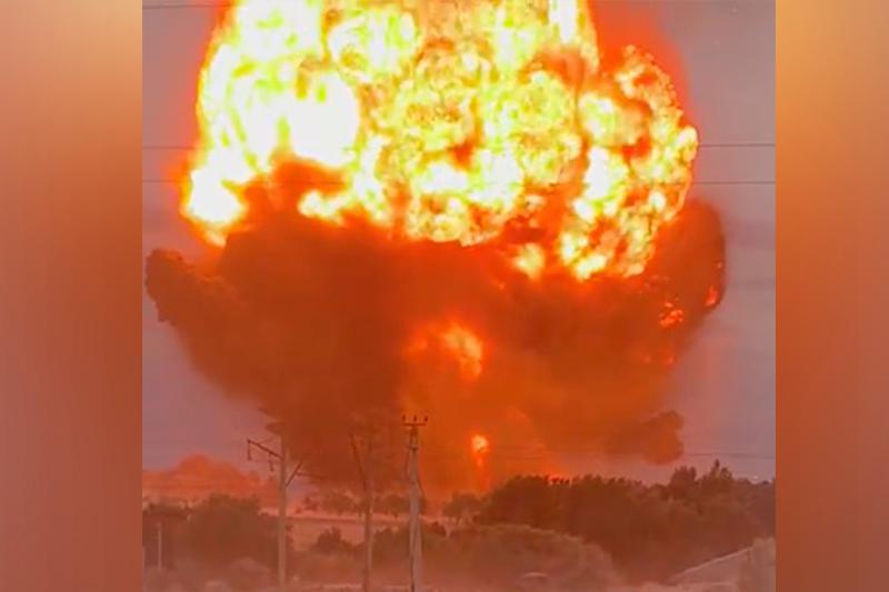 哈萨克斯坦江布尔州一军火库发生爆炸 66人受伤