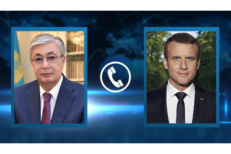 Kazakh President Tokayev held phone talk with French President Emmanuel Macron