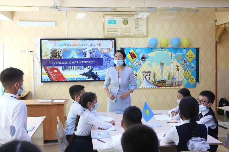 Almaty schools hold open classes on 30th independence anniv