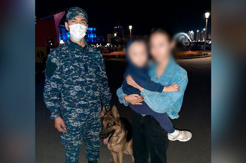 В Нур-Султане служебная собака нашла потерявшегося малыша
