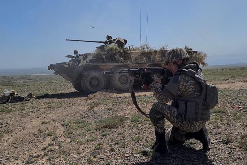 Силы ОДКБ провели учебную контртеррористическую операцию в Кыргызстане