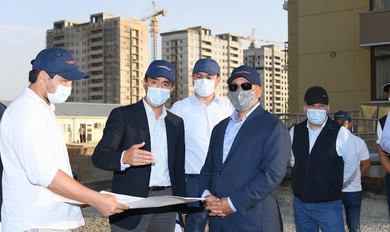 Өмірзақ Шөкеев Түркістандағы жаңа нысандардың құрылыс барысымен танысты