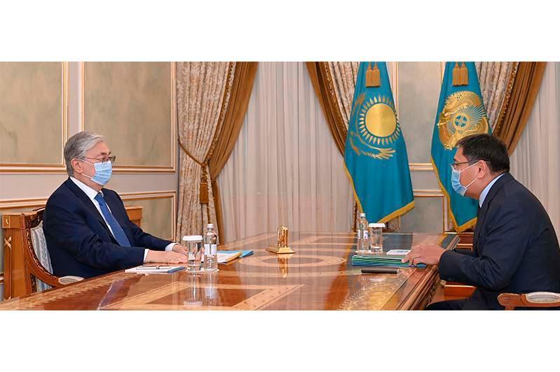 Kazakh President receives National Bank Chairman