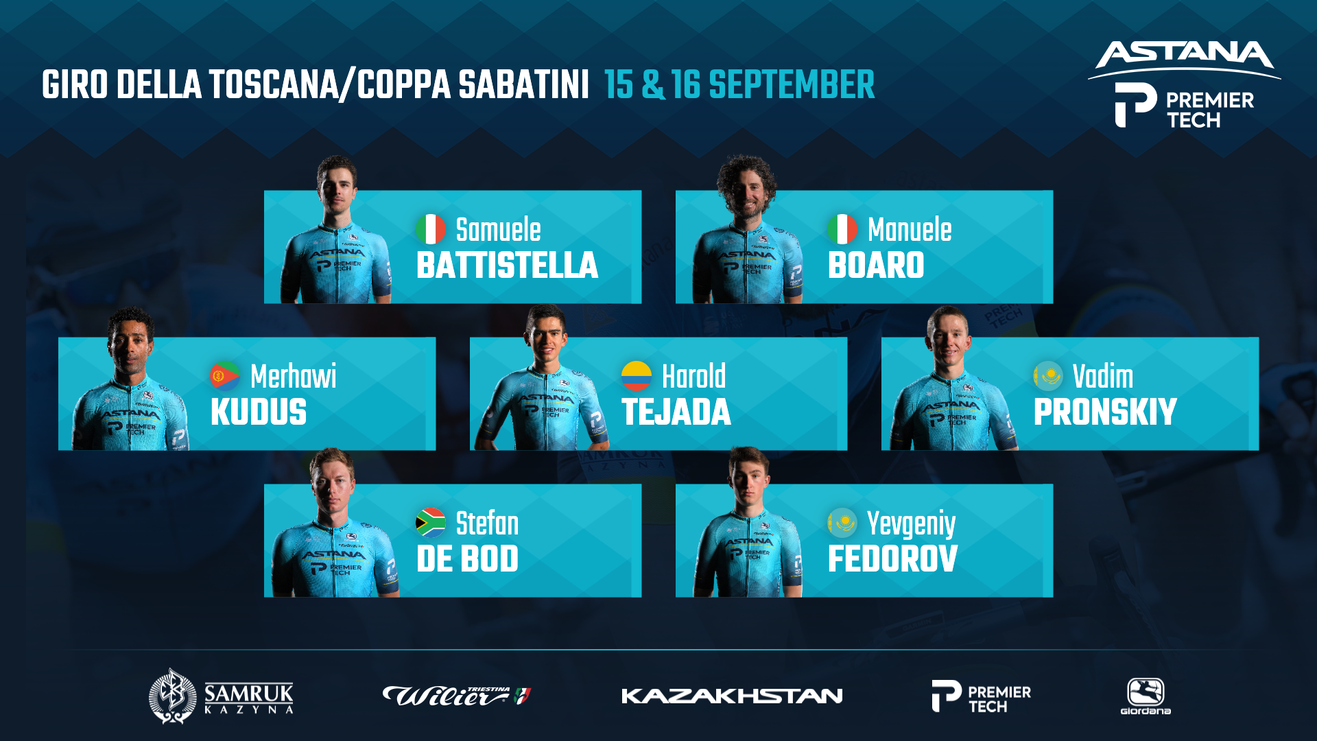 Astana – Premier Tech for Giro Della Toscana and Coppa Sabatini