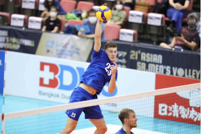Сборная Казахстана провела третий матч в рамках ЧА-2021 по волейболу