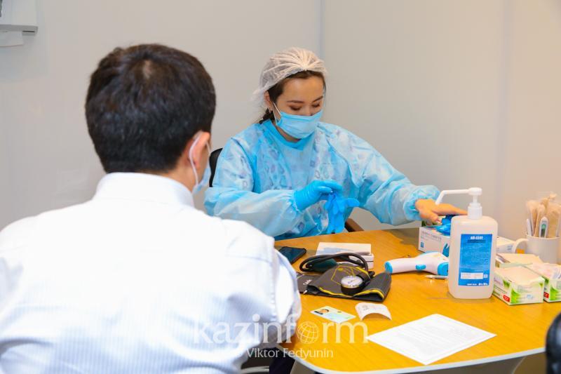 Алматы облысындағы сүт зауытының ұжымы 100 пайыз вакцина алды