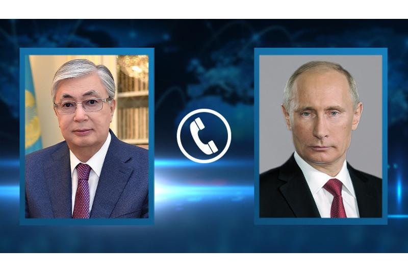 Касым-Жомарт Токаев провел телефонный разговор с Владимиром Путиным