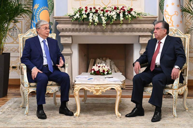 Tokayev meets with Tajik President Emomali Rahmon