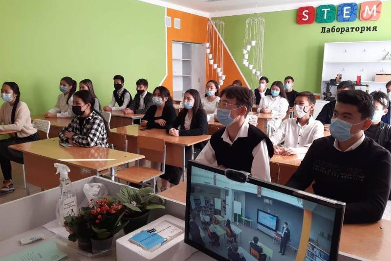 Открытый урок для 3 тысяч школьников провела карагандинская НИШ