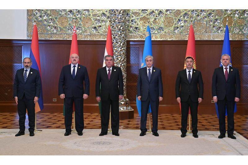 托卡耶夫总统出席集安组织成员国元首峰会并发表讲话