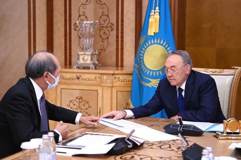 Elbasy receives Nazarbayev University President Shigeo Katsu