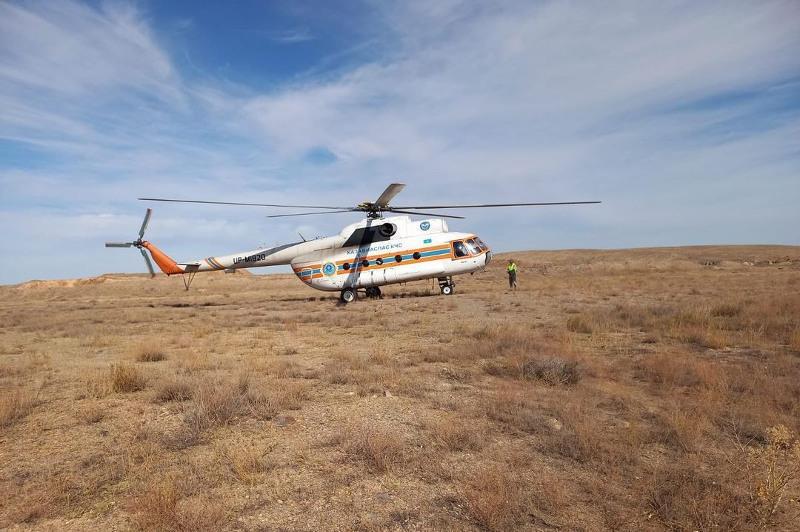 К поискам пропавшего в Каражале мужчины привлекли вертолет