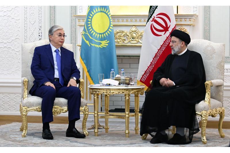 Presidents of Kazakhstan and Iran meet