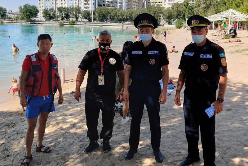 19-летнего парня спасли на озере Сайран в Алматы