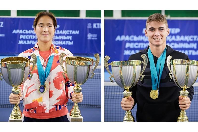 Определились чемпионы Казахстана по теннису