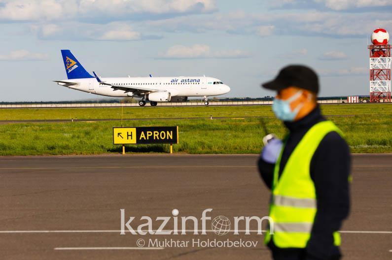 40 международных авиарейсов прибыло в Казахстан за сутки